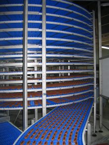Cooling line for bakery products